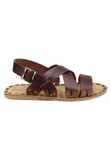Hakiki Deri Sandalet-Wolfland